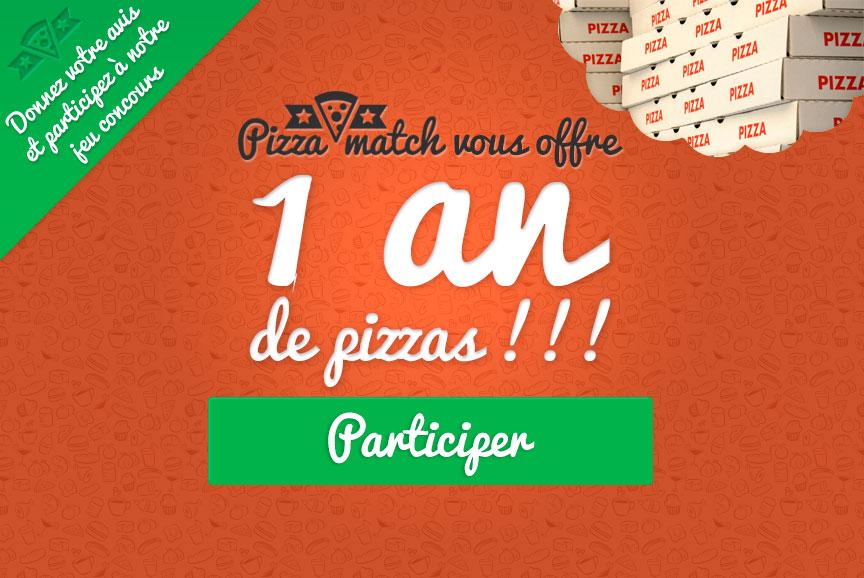 1 an de pizza à gagner