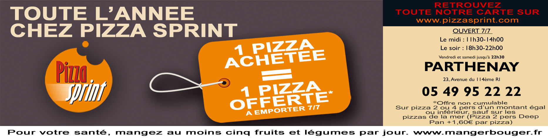 Pizza Sprint à Parthenay