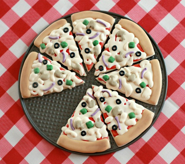 Pizza Cookie source : Sugarbelle