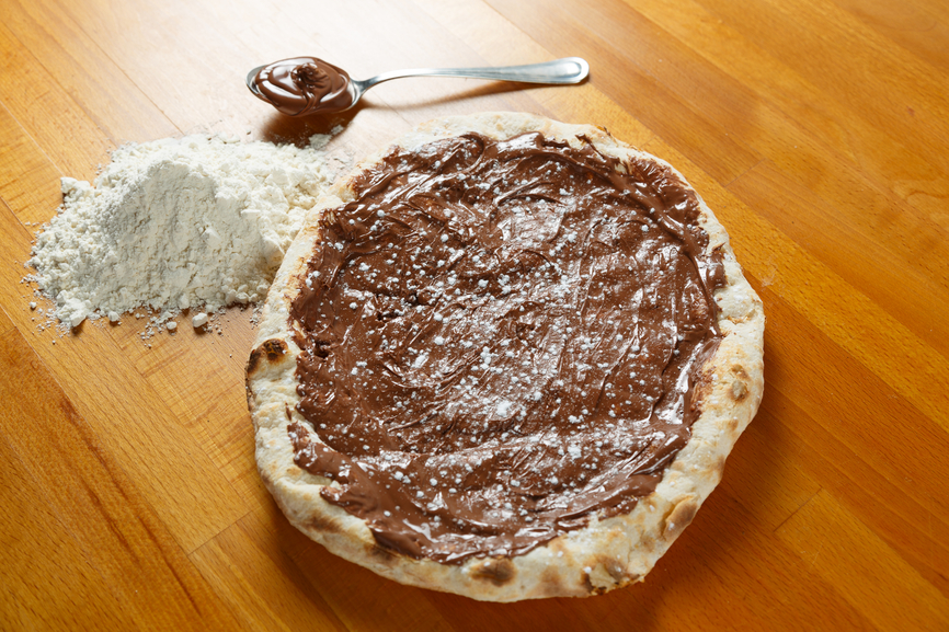 La pizza au Nutella