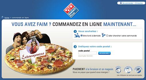 Dominos Pizza commande ligne