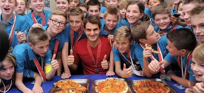 Roger Federer pizza