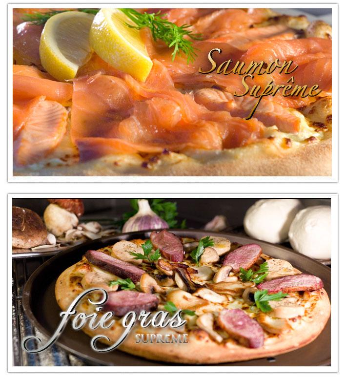 Pizza saumon supreme - foie gras supreme