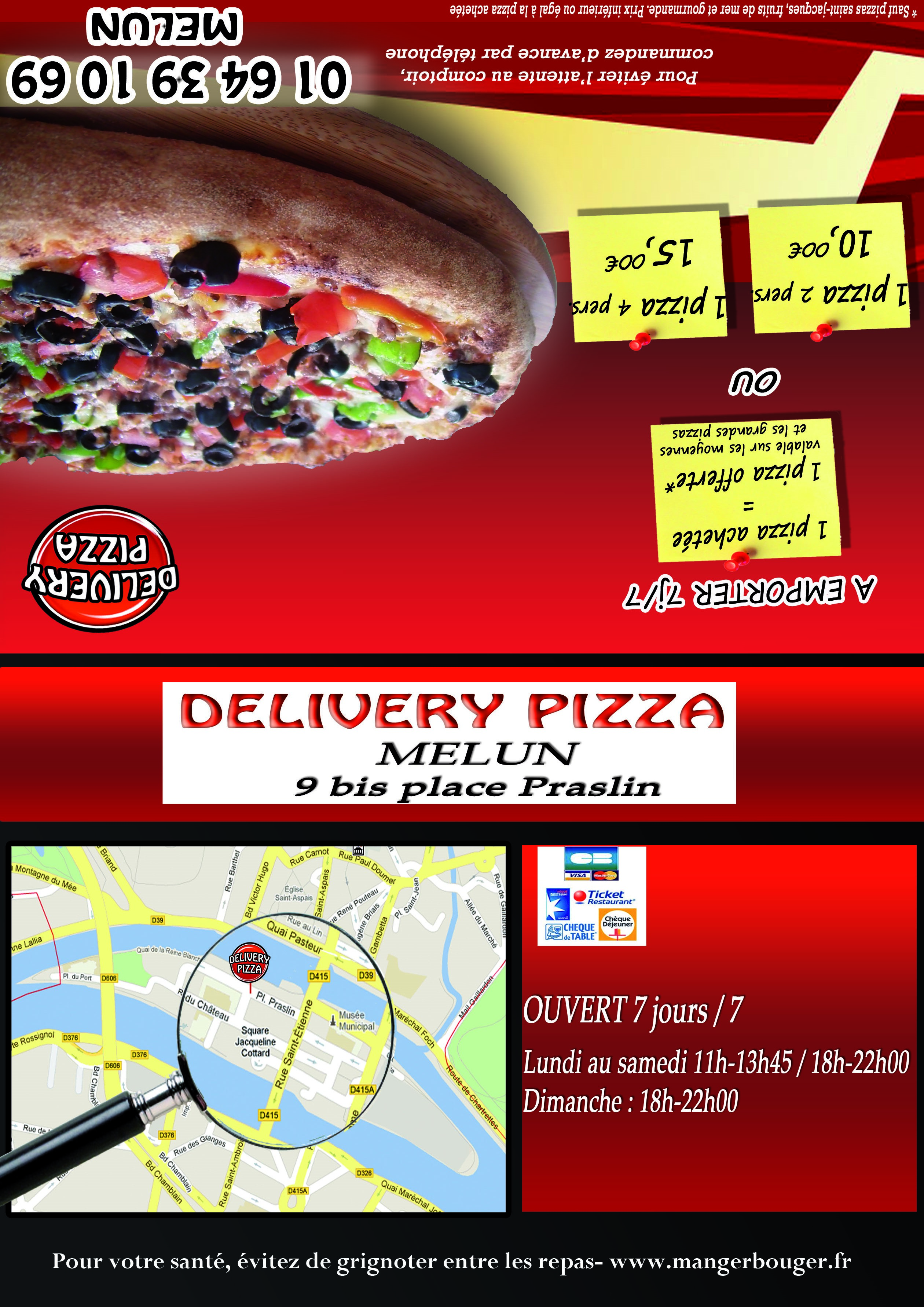 Delivery Pizza à Melun