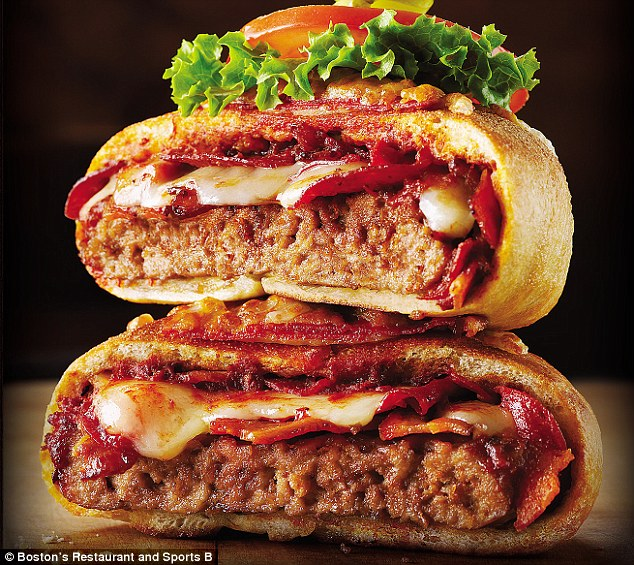 Pizza burger wrap