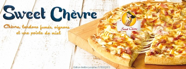 Sweet chèvre Dominos Pizza